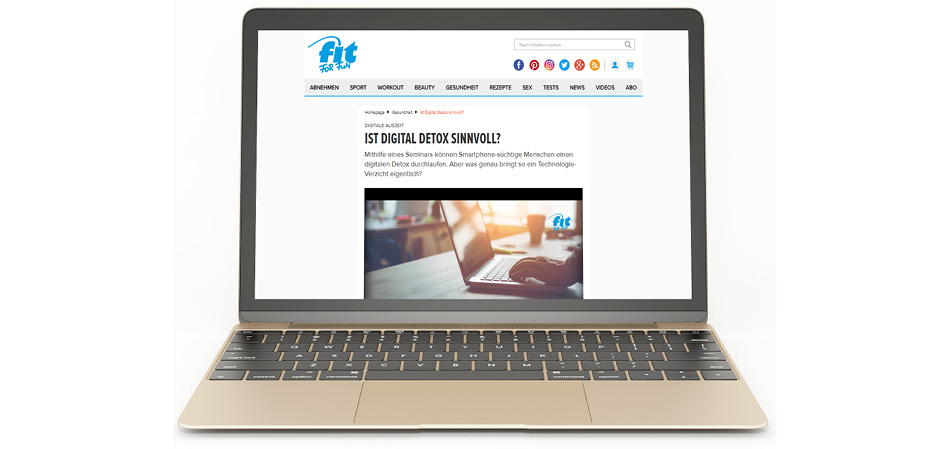 Januar 2018 | fit FOR FUN: Digitale Auszeit - Ist Digital Detox sinnvoll?